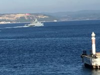 'Vasiliy Bikov' isimli Rus savaş gemisi, Çanakkale Boğazı'ndan geçti