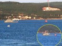 Römorkörün çektiği cisim gemilerin atışlarda kullandığı hedef tahtası çıktı