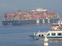 'MSC Teresa' isimli konteyner gemisi, Çanakkale Boğazı'ndan geçti