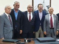Rıfat Hisarcıklıoğlu, İMEAK DTO İskenderun Şubesi'ni ziyaret etti