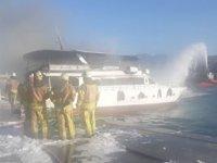 'Şehrazat 1' isimli tur teknesinde yangın çıktı