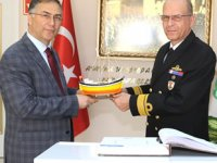 Sahil Güvenlik Komutanı Ahmet Kendir, Sinop Valiliği'ni ziyaret etti