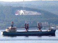 'Dvinitsa-50' isimli Rus askeri kargo gemisi, Çanakkale Boğazı'ndan geçti