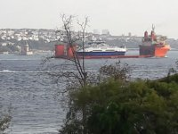 'Sun Rise' isimli gemi, İstanbul Boğazı'ndan geçti