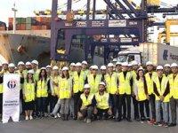 GAÜN öğrencileri Limakport İskenderun Limanı'nı gezdi