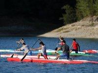 Seyhan Baraj Gölü, durgunsu sporunda cazibe merkezi oldu