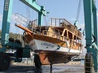 Alanya'da tekneler yeni sezona hazırlanıyor