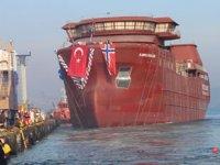Tersan Tersanesi, 'Bjorg Pauline' isimli canlı balık taşıma gemisini suya indirdi