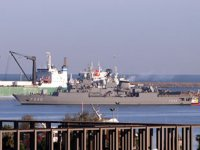 TCG Yavuz Fırkateyni, Samsun Limanı'na demir attı