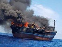 Uyuşturucu kaçakçıları, Mozambik'te gemiyi ateşe verdiler