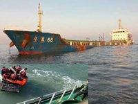'Hua Xia 68' isimli kargo gemisi, Doğu Çin Denizi'nde battı