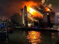 'Andiamo' isimli süper lüks yat yanarak battı