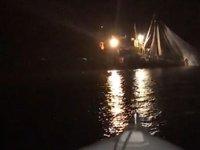 Sahil Güvenlik ekipleri, gırgır teknesine operasyon düzenledi