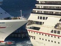 Carnival Glory ve Carnival Legend isimli yolcu gemileri çatıştı