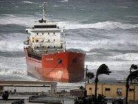 Fuden Denizcilik şirketine ait gemi İsrail'de karaya oturdu