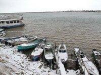 Beyşehir Gölü'nde avlanma faaliyetlerine kar molası
