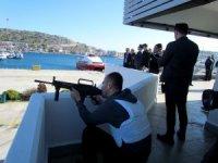 Çeşme Ulusoy Limanı'nda nefes kesen tatbikat