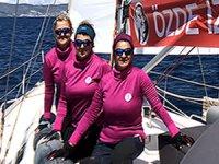 Kadın denizciler Boğaz'da buluşuyor