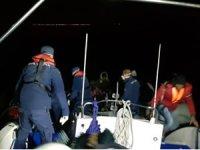 Aydın Didim'de 35 sığınmacı kurtarıldı