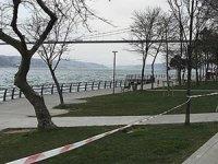 Üsküdar sahilinde yasağa uymayan balıkçılar için şeritli önlem alındı