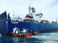 Gümrük çalışanları işi bıraktı, Toros gemisi tahliye edilemedi