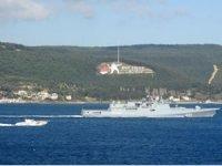 Rus savaş gemileri Çanakkale Boğazı'ndan geçti