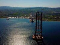 Çanakkale Boğaz Köprüsü'nün ayakları 250 metreye ulaştı