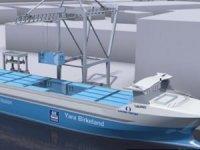Dünyanın ilk otonom elektrikli konteyner gemisinin tamamlanması askıya alındı