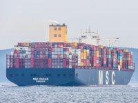 Dev konteyner gemisi MSC OSCAR, Çanakkale Boğazı'ndan geçiş yaptı