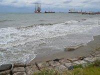 Gemiler lodos nedeniyle Tekirdağ kıyılarına demirledi