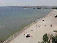 Büyükçekmece'de vatandaşlar plajlara koştu