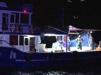İstanbul'da deniz polisi ve il tarım müdürlüğü kaçak avcılık denetimi gerçekleştirdi