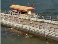 Hasankeyf liman bölgesindeki yüzer iskeleye, artık tekne bağlanmayacak!