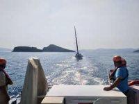 Sürüklenen tekne kurtarıldı