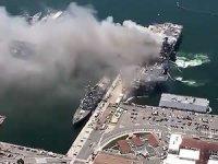 ABD''de savaş gemisinde yangın çıktı, 21 kişi yaralandı