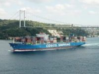 Cosco Shipping Seine, İstanbul Boğazı'ndan geçerek Karadeniz'e açıldı