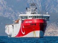 MTA Oruç Reis Sismik Araştırma Gemisi, çalışma yapacağı alana ulaştı