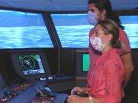 İÜ'de gemi simülatöründe uygulamalı kaptanlık eğitimi veriliyor