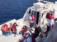 Yaralı turistin yardımına Sahil Güvenlik yetişti