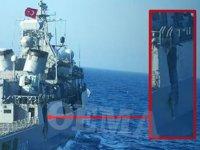 TCG Kemal Reis gemisinin çarpışma sonrası hasar almış fotoğrafı yayımlandı