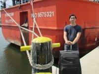 Stajyer öğrenci Selim Eren Ekiztaş, evine ulaştırıldı