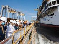 MSC Cruises'ın yeni amiral gemisi MSC Seashore denize indirildi