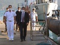 Muğla Valisi Orhan Tavlı, Marmaris Sahil Güvenlik Güney Ege Grup Komutanlığı'nı ziyaret etti