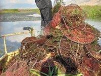Afyonkarahisar'da kaçak avlanan 4 bin kerevit göle geri salındı
