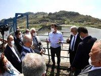 Ekrem İmamoğlu, Melen Barajı'nda incelemelerde bulundu