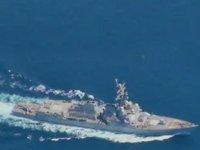 İran, ABD'ye ait USS Nimitz uçak gemisinin Basra Körfezi'ne geçişini havadan izledi
