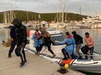 Çeşme'de 10 düzensiz göçmen kurtarıldı