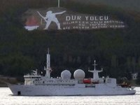 'Dupuy De Lome' isimli Fransız zırhlı istihbarat gemisi Çanakkale Boğazı'ndan geçti