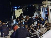 Marmaris'te 87 düzensiz göçmen kurtarıldı