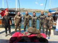 Bodrum Belediyesi, deniz dibi temizliğine tekrar başladı